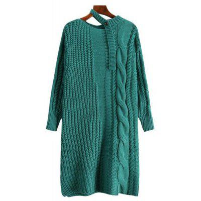 Women's Long Sleeve Loose Sweater Dress