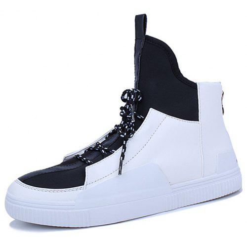 be3886685c Men High-Cut Fashion Lace up Zipper Sneakers