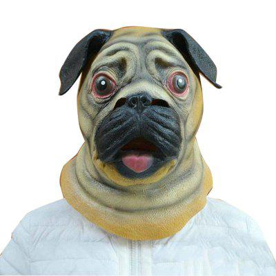 Halloween Mask Latex Masks Mask Bulldog Latex Caps Cartoon Cute Dog