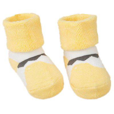 2Pcs Cute Cartoon Printed Thick Breathable Infant Booties Baby Shoe Socks