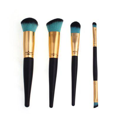 High Quality 4 PCS Makeup Brush Set Wood Handle Travel Kit