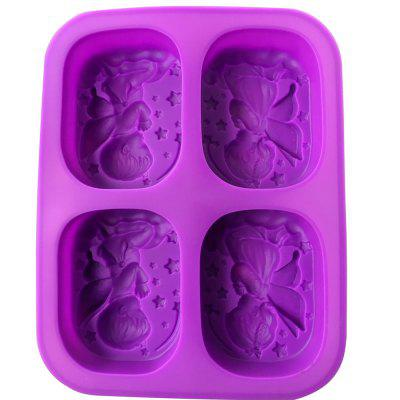 4 Hole Angels Prayer Food-Grade Silicone Soap Mold Cake Angel DIY