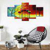 YISHIYUAN 5 Pcs HD Inkjet Paints Abstract Color Small Fresh Decorative Painting - MULTI