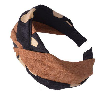 Wide-Brimmed Cloth Art Knot Head Band