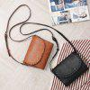 Vintage Small Women Bag  Knitting Shoulder Bag High Quality PU Leather Bags - BLACK