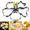 5 Pcs Stainless Steel Cooking Shaper Mould Frying Pan Fried Egg Pancake - SILVER