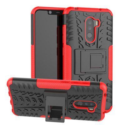 TPU + PC Dual Armor Cover with Stand for Xiaomi Pocophone F1