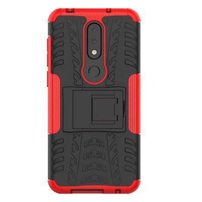 TPU + PC Dual Armor Cover with Stand for Nokia X6 2018