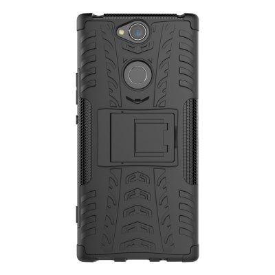 TPU + PC Dual Armor Cover with Stand for Sony Xperia XA2 Plus