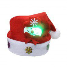 af8c31a0d6c62 Christmas Hat for Children and Adults Non-Woven Pleuche Snowman Hat with  Lights