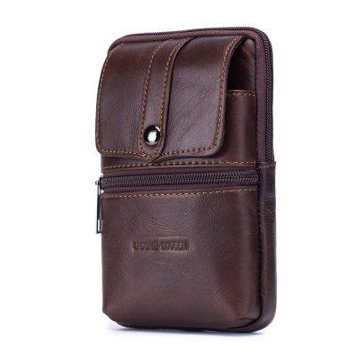 LAOSHIZI The First Layer of Cowhide Men Wear Leather Belts  Leather Bag