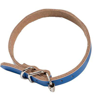 Pet Supplies Manufacturers Selling Pure Cowhide Leather Dog Collar Dog Collar