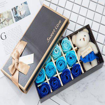 12 Roses and Bear The Soap Spend Christmas Gifts Creative Birthday Gift Box