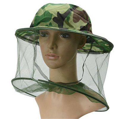 Outdoor Camouflage Shawl Wild Anti-Mosquito Bee Cap Jungle Fishing Sun Hat