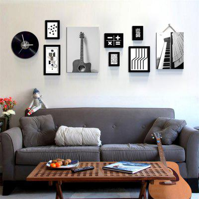 Modern Style Photo Frame Set Wooden Picture Wall Art
