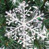15Pcs Christmas Snowflakes Tree Ornaments Home Party Holiday Festival Decor - WHITE