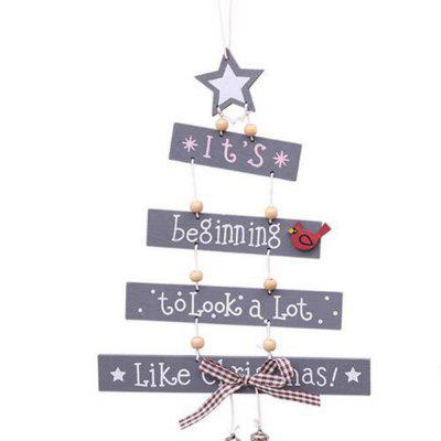 Christmas Tree Letter Wooden Hanging Party Pendant Home Door Ornament Xmas Craft
