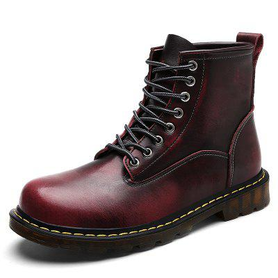 Men'S Leather High-Top Plus Wear-Resistant Anti-Skid Tooling  Boots