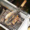 Stainless Steel BBQ Net Fish Meat Hamburg Net Barbecue Nets Grill Clamp - WOOD