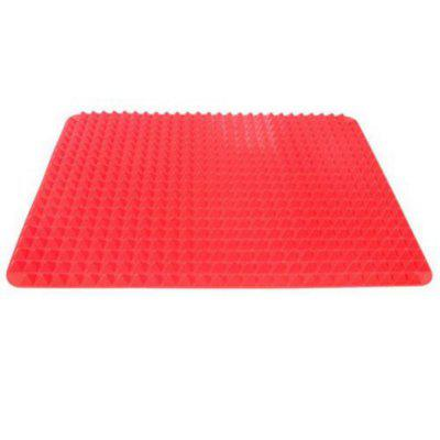 2PCS Red Silicone Baking Mat Tray Non Stick Mat Kitchen Tool Barbecue Outside