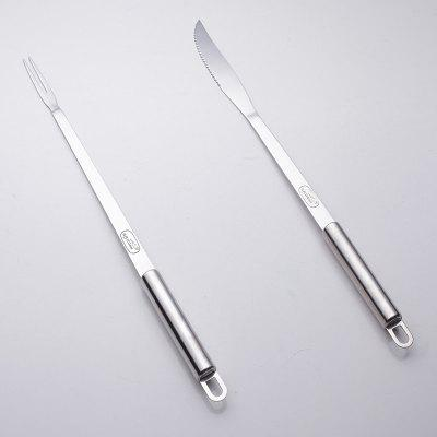 Set of Fork and Knife BBQ Meat Fork Barbecue Stainless Grill Tools