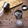 Kitchen Grinding Bottles Tools Salt Pepper Mill Grinder Pepper Spice Container - BLACK
