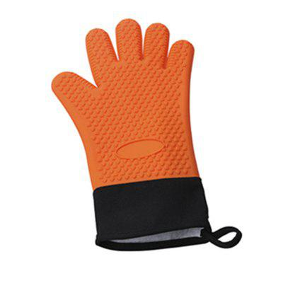 Microwave Heat Resistant BBQ Cooking Gloves Silicone Oven Mitts