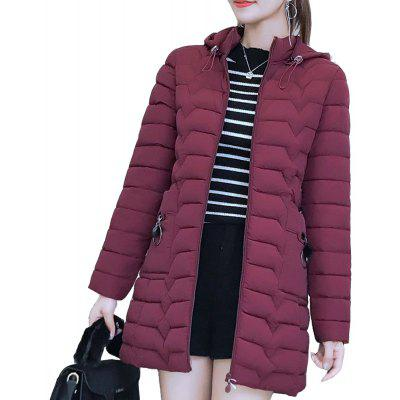 Warm Jacket Light Duck Down Jacket Long Female Overcoat Slim Solid Coat