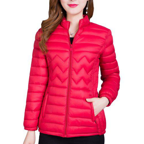 Short Women S Coat Winter Light Quality Zipper Ladies Jackets