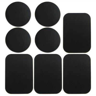 8PCS Metalen platen Sticker Vervang voor Magnetic Car Mount Holder mobiele telefoon GPS