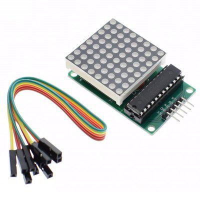 MAX7219 Dot Matriz MCU Kit Display LED Módulo de Controle Para Arduino Com Dupont Ca