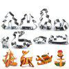 3D Christmas Three-Dimensional Cookie stainless Steel Mold 8 pcs - SILVER