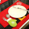 1PC Christmas Dinning Placemat Table Mat Decor - RED