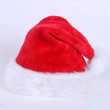 59ae6a99ae752 Christmas Hat Cap Party Santa Claus Red Plush Xmas Headgear Costume For  Adults