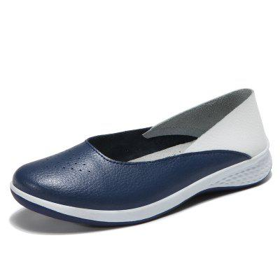 Autumn Recreational Sports Leather Women Comfortable and Comfortable Flat Shoes