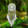 White Feather Lace Indian Dream Catcher Hanging Ornament Mascot - WHITE