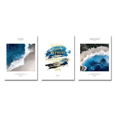 DYC 3PCS Seawater English Alphabet Stampa Art