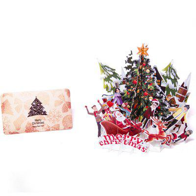 Christmas Tree 3D Greeting Card  Hand Card Blessing