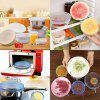 6pcs Silica gel fresh-keeping Bowl  Cup Lid Household Sealing  Dust Cover - WHITE
