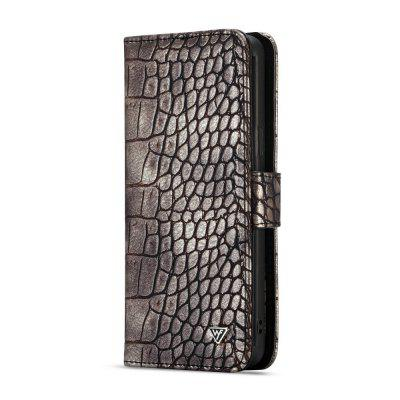 WHATIF Detachable 2 in 1 Wallet Case Crocodile Pattern PU for SAMSUNG S9