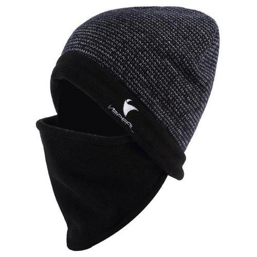 f9ac4c3f VEPEAL Winter Unisex Wool Mohair Knit Hat Bib Face Protection Ski Hat