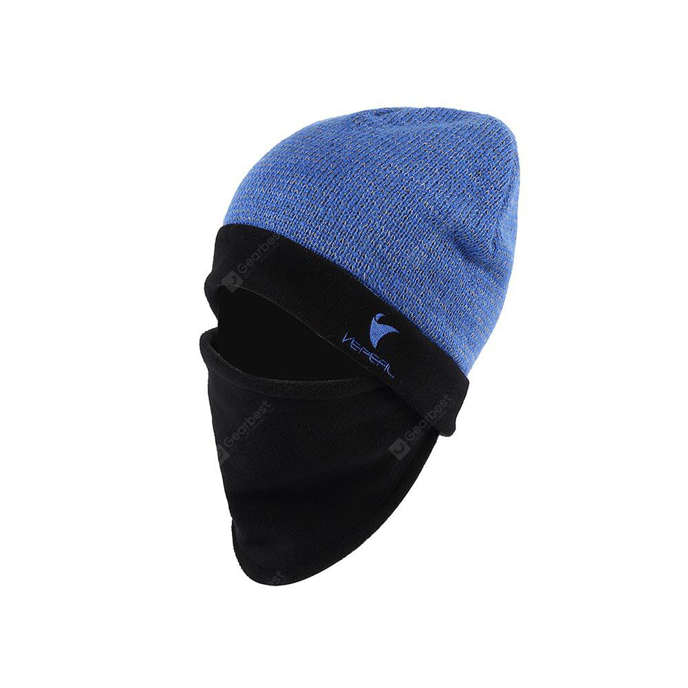 926581af VEPEAL Winter Unisex Wool Mohair Knit Hat Bib Face Protection Ski ...