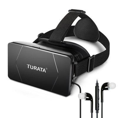 3D VR Glasses Virtual Reality with Earbuds and Adjustable Lens Strap