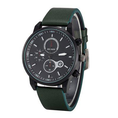 FEIFAN Brand Sports Watches Resistant Men Date Watch Military Leather Di