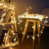 YEDUO 1.5M 10 LED Ball String Lights Waterproof For Christmas Tree Home Indoor - WARM WHITE