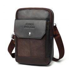 c08e07384a Luxury Messenger Bag for Men Genuine Leather Handbag Vitange Chest Flap