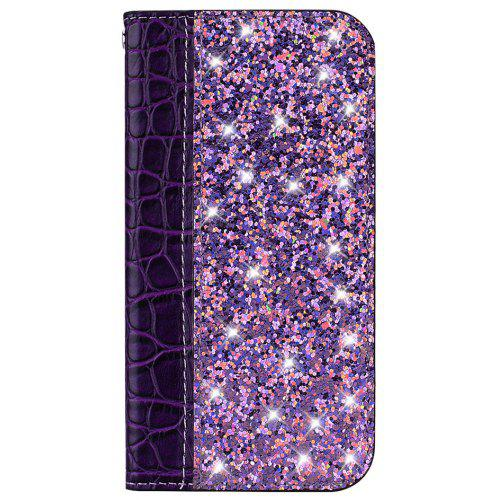 Glitter Powder Flip Mobile Phone Case for Huawei Y6 2018