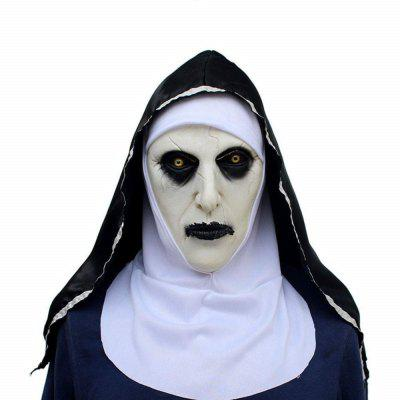 Mask Devil Nun Horror Masks with Wimple Costume for Party