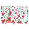 New Year Window Glass Decoration Christmas Stickers - RED