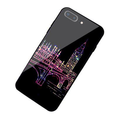 Line City Night Glass Case Hard Back Cover Protective for iPhone 7 Plus / 8 Plus